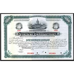 State of Connecticut. ND. Specimen Bond.