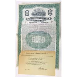 Cuban Cane Products Co., Inc., 1930 Issued Bond