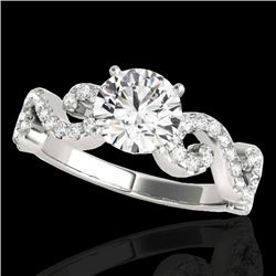 1.4 CTW H-SI/I Certified Diamond Solitaire Ring 10K White Gold - REF-218H2A - 35241