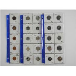 Estate - Store Stock - 50 Canada Coins, Identified