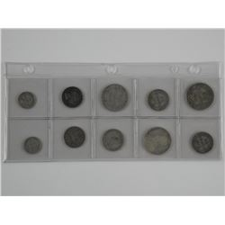 Lot (10) Silver NFLD Coins