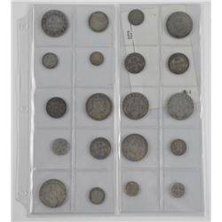 Lot (20) Silver NFLD Coins