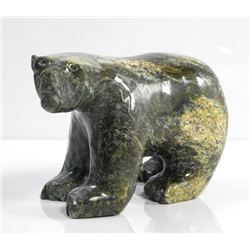 Original Stone Sculpture by 'Ashoona' 'BEAR' 8x5x3