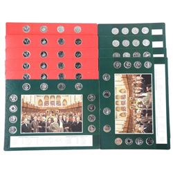 10x Historical Coin Boards with 25 Cent Collection