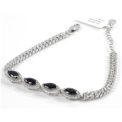 Ladies 925 Sterling Silver Custom Bracelet with 4c
