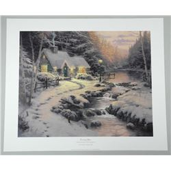 Thomas Kinkade (1958-2012) Litho 'Christmas Cottag