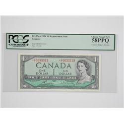 Bank of Canada 1954 * 1.00 Replacement Note UNC 58