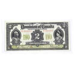 Dominion of Canada 1914 - Two Dollar Note. VF25. D
