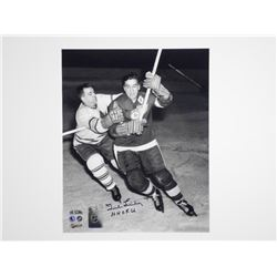 Ted Lindsey 8x10 Signed Hockey Hall of Fame 66 - D