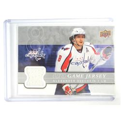 Alexander Ovechkin (WASH) 'UD' Game Jersey Card. 2