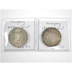 Lot (2) Silver Coins - Hungary