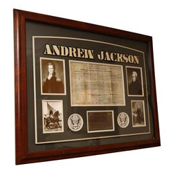 President Andrew Jackson Autographed Collage