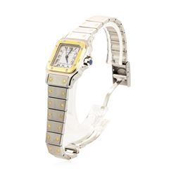 Cartier Lady's Santos Wristwatch - Stainless Steel and 18KT Yellow Gold