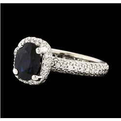 1.40 ctw Sapphire and Diamond Ring - Platinum