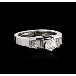 14KT White Gold 0.92 ctw Diamond Ring