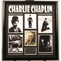Charlie Chaplin Autographed Photo Collage