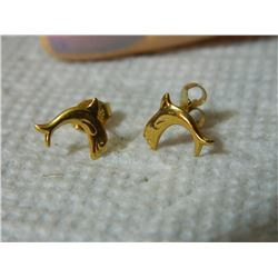 EARRING - SURGICAL STEEL - DOLPHINS