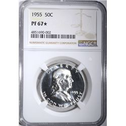 1955 FRANKLIN HALF DOLLAR, NGC PF-67*
