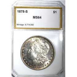 1878-S MORGAN DOLLAR, PCI CH/GEM BU