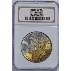 1885-O MORGAN DOLLAR, NGC MS-63
