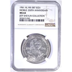 1961 AL HK-587 SO CALLED DOLLAR, NGC MS-64