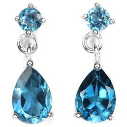Natural AAA LONDON BLUE TOPAZ Earrings