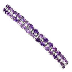Natural Top Intense Purple Amethyst Bracelet