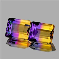 NATURAL PREMIUM ANAHI AMETRINE PAIR 24.90 Ct - FL
