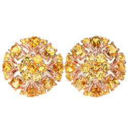 NATURAL AAA ORANGISH YELLOW CITRINE Earrings