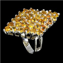 Natural Yellow Citrine Ring