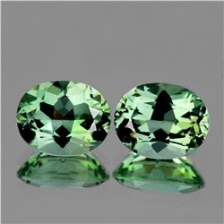 Natural Light Green Tea Amethyst Pair 11x9 MM - FL