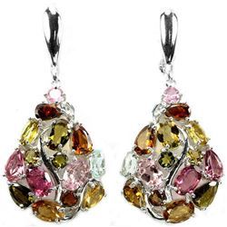 NATURAL AAA MULTI COLOR TOURMALINE EARRINGS