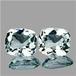 Natural Sky Blue Aquamarine Pair 2.42 Ct  Flawless