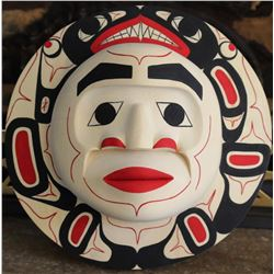 West Coast Native Moon Mask with Killer Whale Spirit