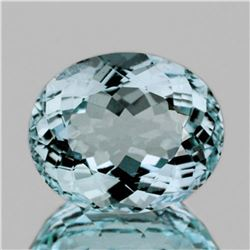 NATURAL GREENISH BLUE AQUAMARINE 8.65 Ct - FL