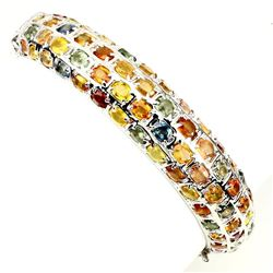 Natural Top Fancy Color Sapphire 117 Ct Bangle