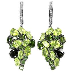NATURAL PERIDOT TOURMALINE CHROME DIOPSIDE Earrings