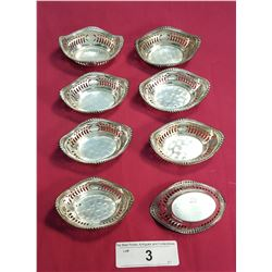 8 Matching Sterling Pot Dishes