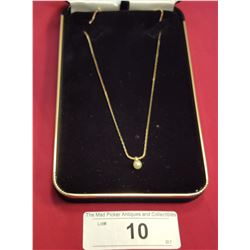 10kt Gold Chain w/ Pearl Pendant