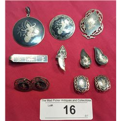 11 Thai Silver Pieces of Jewelry