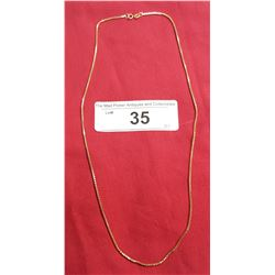 """10kt Box Link Chain 20"""""""