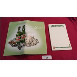 N.O.S. 7up Menu Forms, 8 Sets Never Used