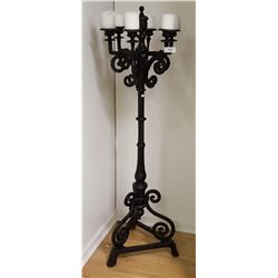 Floor Standing Cast Iron Candelabra, 6 Candles