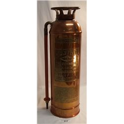 Vintage Copper & Bronze Fire Extinguisher