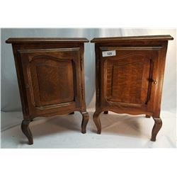 Pair of Quarter Sawn Oak Night Stands