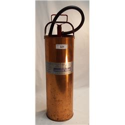 Vintage Copper Fire Extinguisher, Floor Model