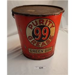 Vintage Tapered Purity 99 Grease Pail