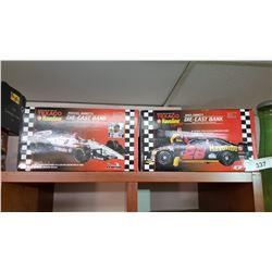 Diecast Bank Texaco Racing Cars 1/25 Scale, High Detail, Mint in Boxes x 2