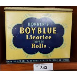 Vintage Blue Boy Licorice Tin