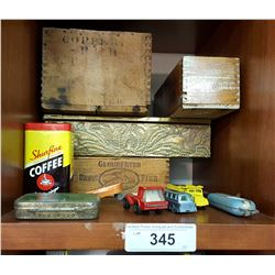 Misc. Lot of Toys, Tins & Boxes